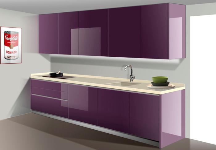 Alcalc3a1 berenjena tirador nuvi1 tienda de cocinas en - Cocinas color berenjena ...