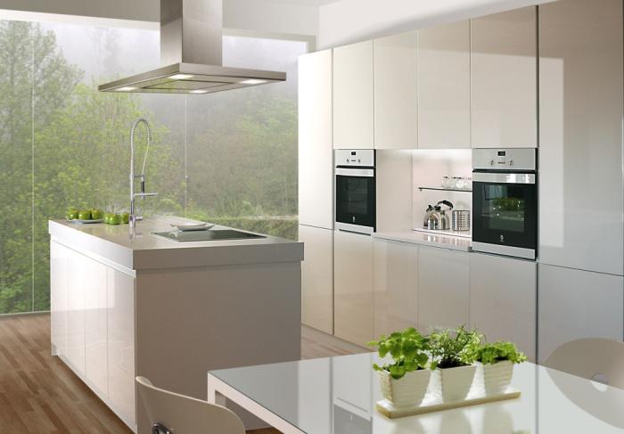 Cocina blanca con isla tienda de cocinas en collado for Muebles anticrisis collado villalba