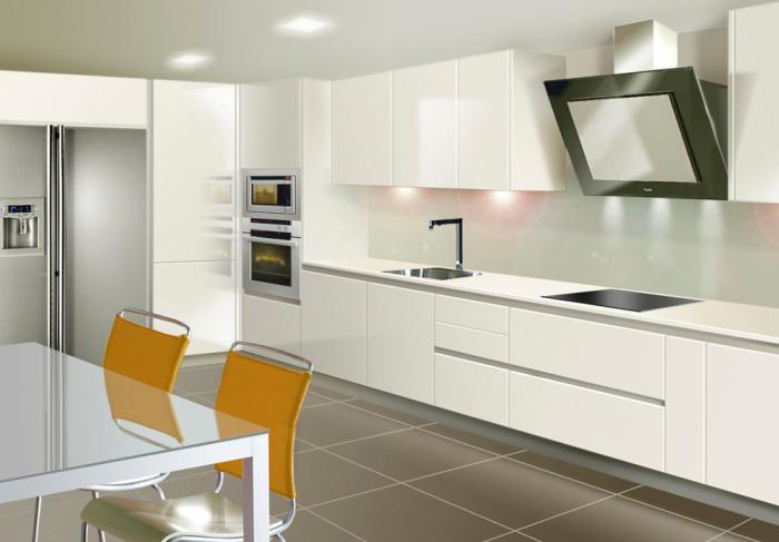 Atlantico blanco brillo tirador gola1 tienda de cocinas for Almacen para cocina